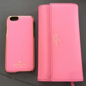 Kate Spade wallet with iPhone 6 case